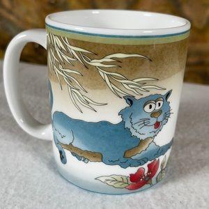 Minh Long Fine Porcelain Coffee Mug Tea Cup CATS